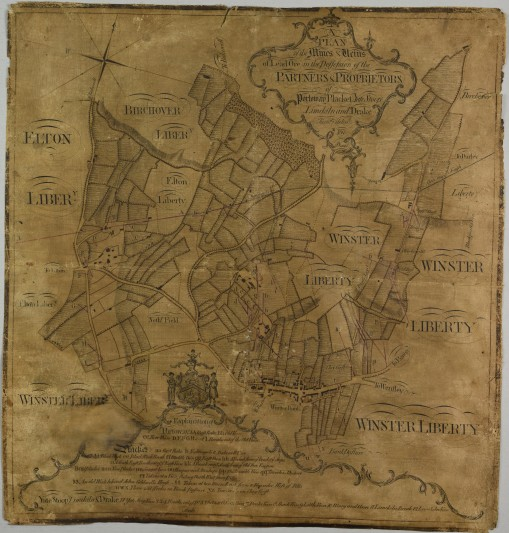 The map of Winster, 1769.