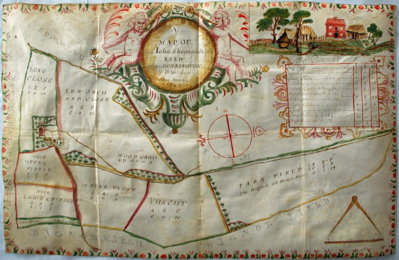 Map of Winterborne, 1694.