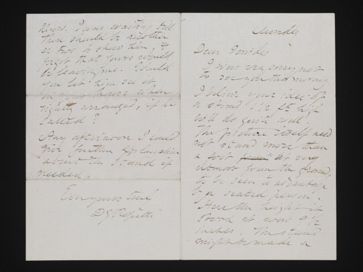 Letter from Rosetti to Ionides, 5 October 1879.