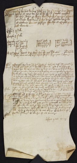 Parchment court roll of the Manor of Curles, 14 November 1544. Courtesy of Essex Record Office.