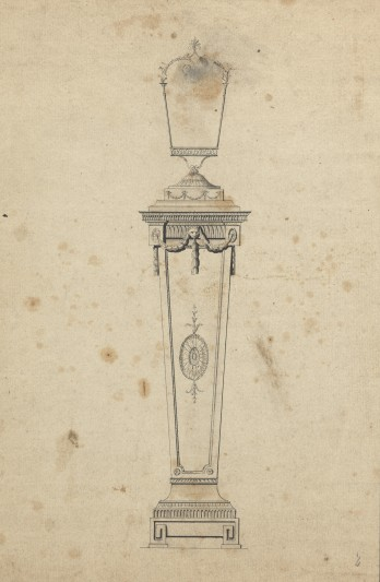 1. Pedestal and lantern designed for Harewood House.