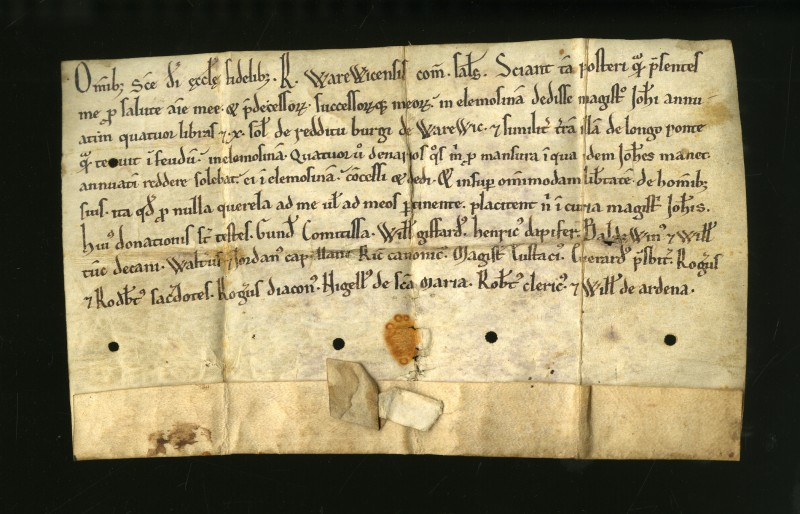 A Charter of the 2nd Earl of Warwick, c.1130-53
