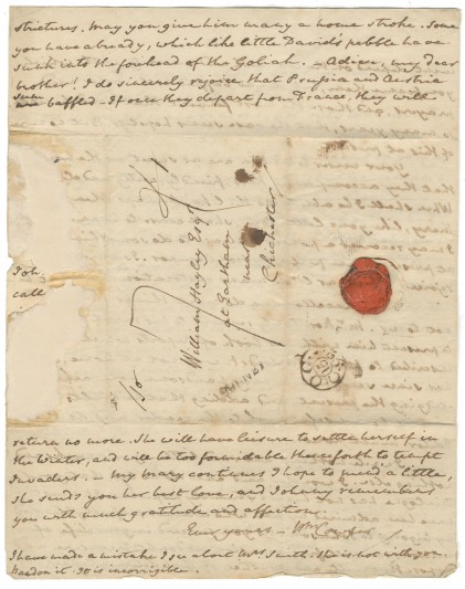 Cowper's letter to William Hayley.