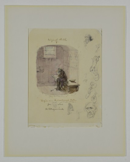 'Fagin In The Condemned Cell', by George Cruikshank.