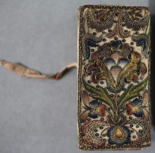 Images of the wonderful embroidered binding, 17th century. Courtesy of Durham University Library.