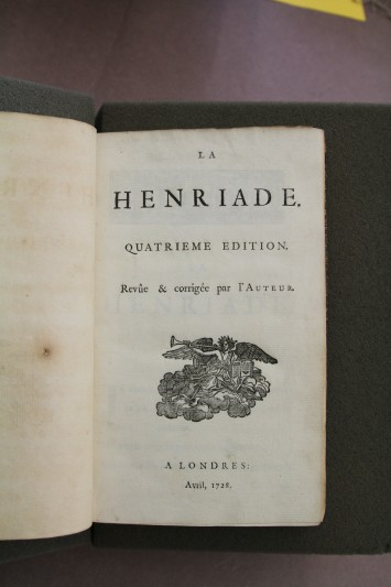 La Henriade (London, 1728).