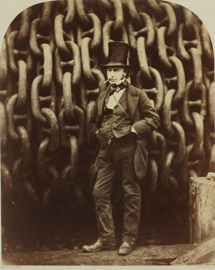 Howlett's iconic portrait of Brunel.