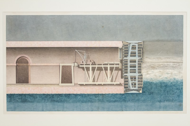 Illustrations showing the construction of the Thames Tunnel
