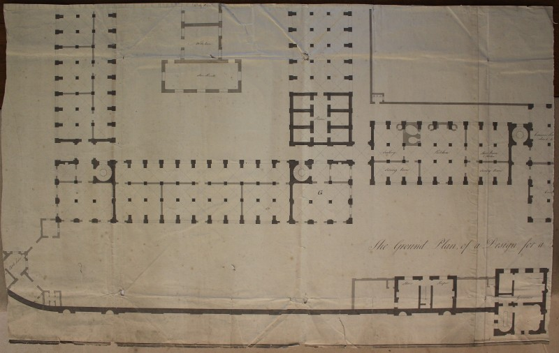 Detail of plan of Durham Assize Courts and Prison, c. 1811. Courtesy of Durham County Record Office.