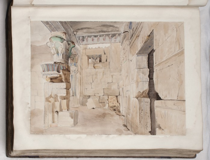 Watercolours from Lloyd's album.  Courtesy of the Griffith Institute.