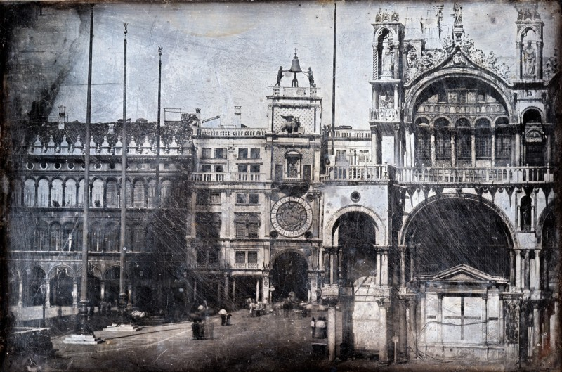 Ruskin's daguerreotype of the south front of St Mark's Basilica, Venice, 1850.