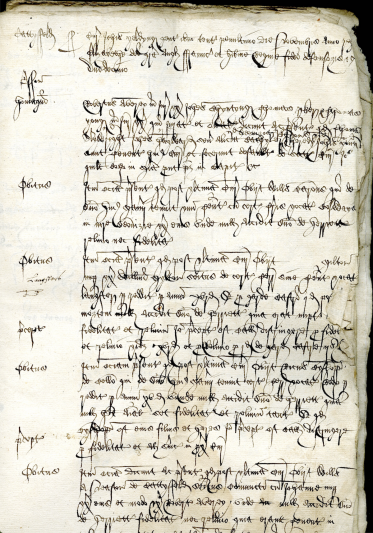 Court book of the manor of Catsfield, 28 November 1569.