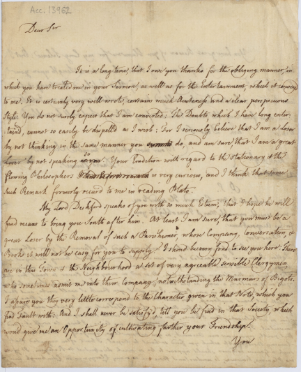 Hume's letter
