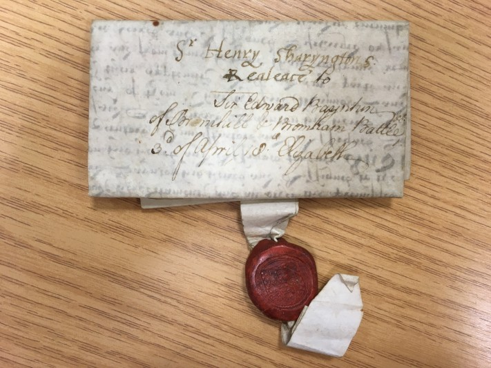 The Henry Sharington deed. Courtesy of Wiltshire and Swindon History Centre