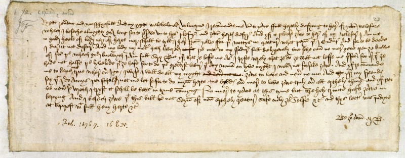 The largest surviving collection of 15th-century English correspondence. FNL grant to British Library 1993. Image by kind permission of British LIbrary.