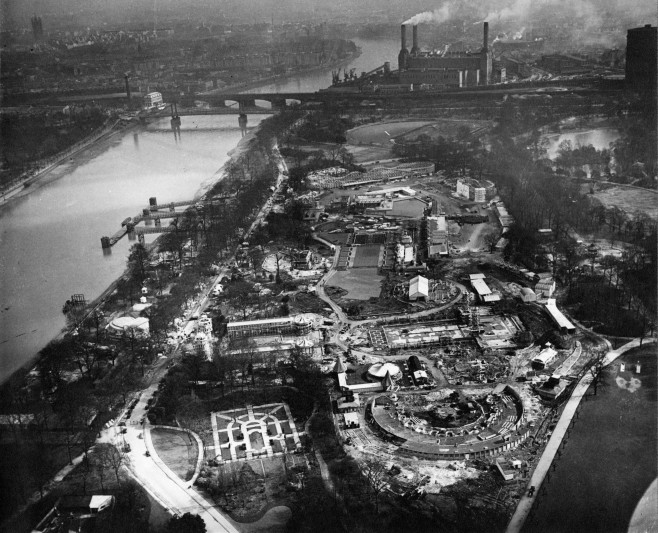 Aerial view of the Great Exhibition site.  Image courtesy of RIBA.