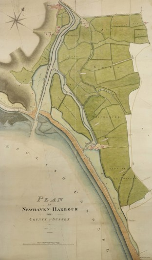 Plan of Newhaven Harbour by William Figg of Lewes, 1824. Images: East Sussex Record Office.